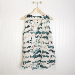 CAbi sleeveless small watercolor gelato blouse